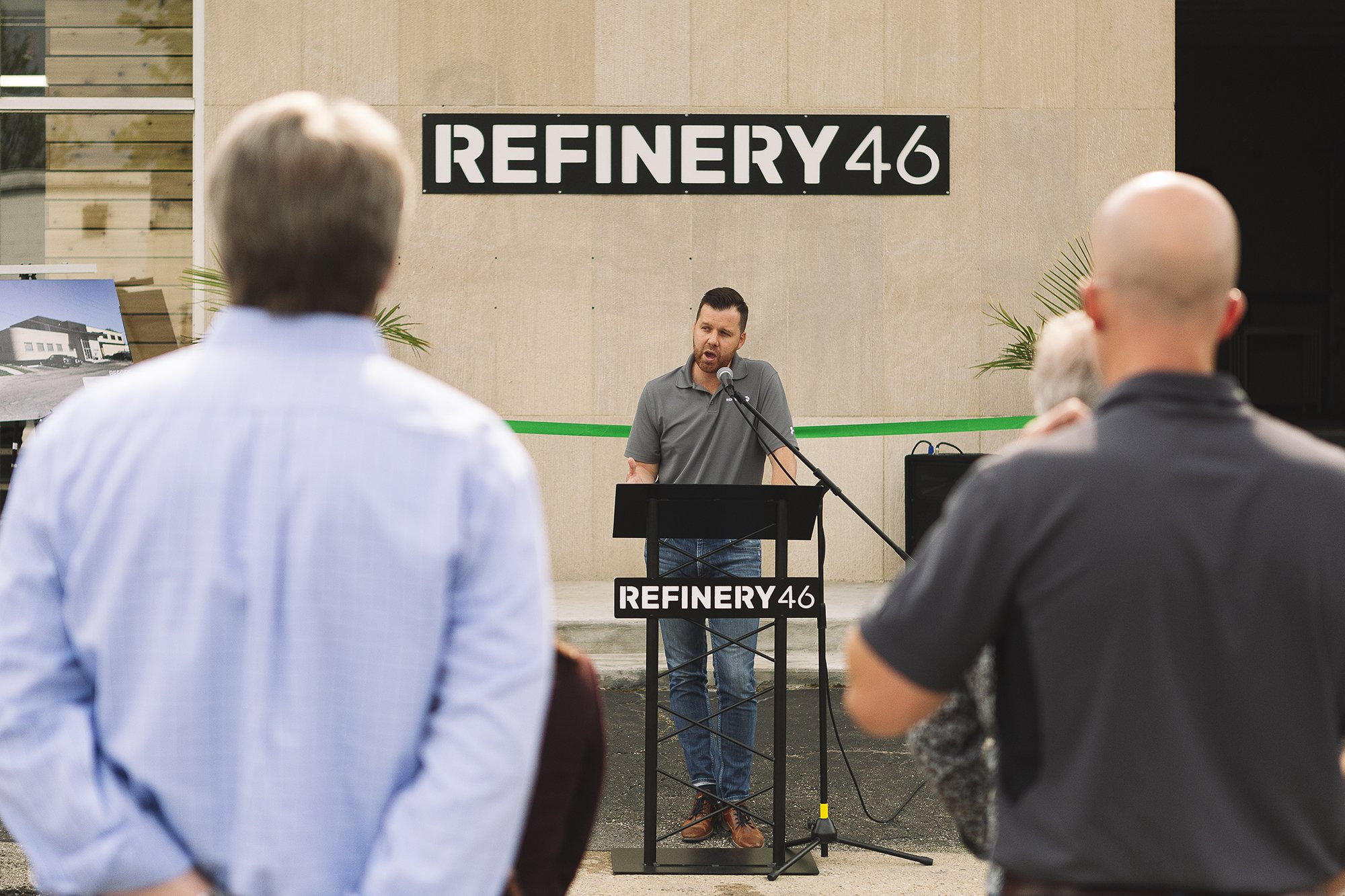 Corporate Event Photography - Refinery 46 Ribbon Cutting - Indianapolis Mayor Hogsett - 10