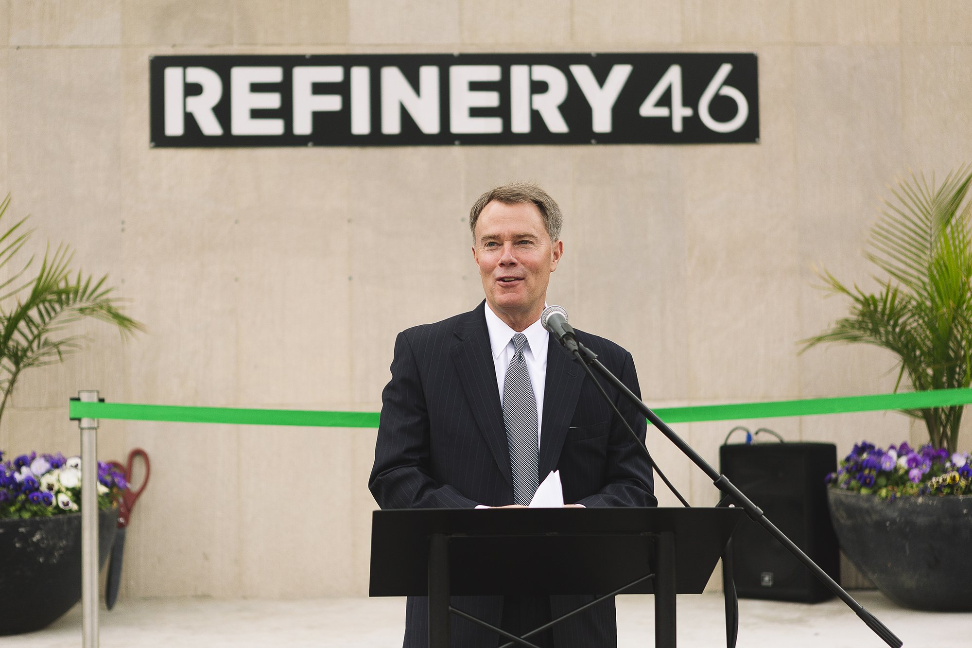 Corporate Event Photography - Refinery 46 Ribbon Cutting - Indianapolis Mayor Hogsett - 15
