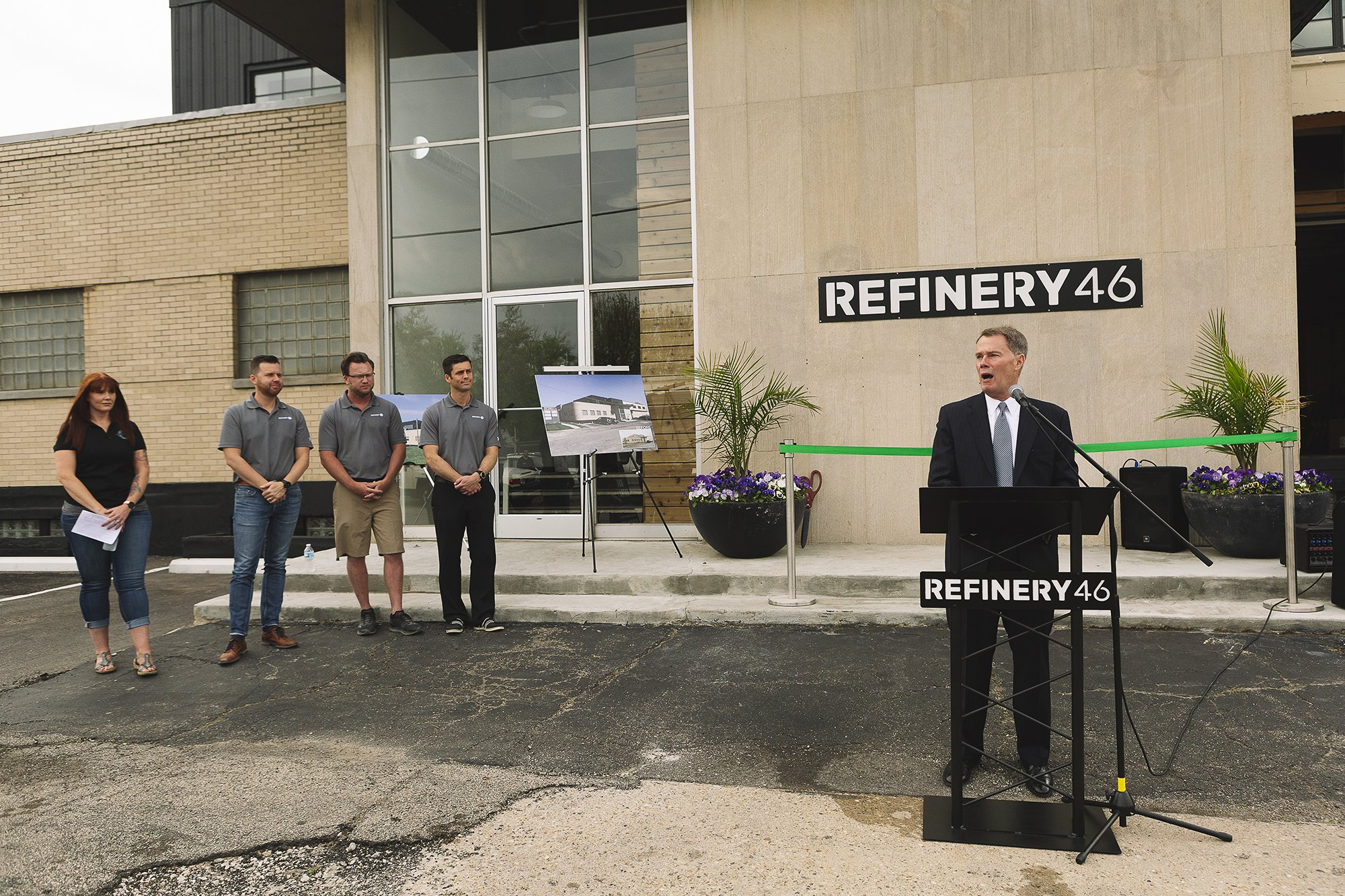 Corporate Event Photography - Refinery 46 Ribbon Cutting - Indianapolis Mayor Hogsett - 17