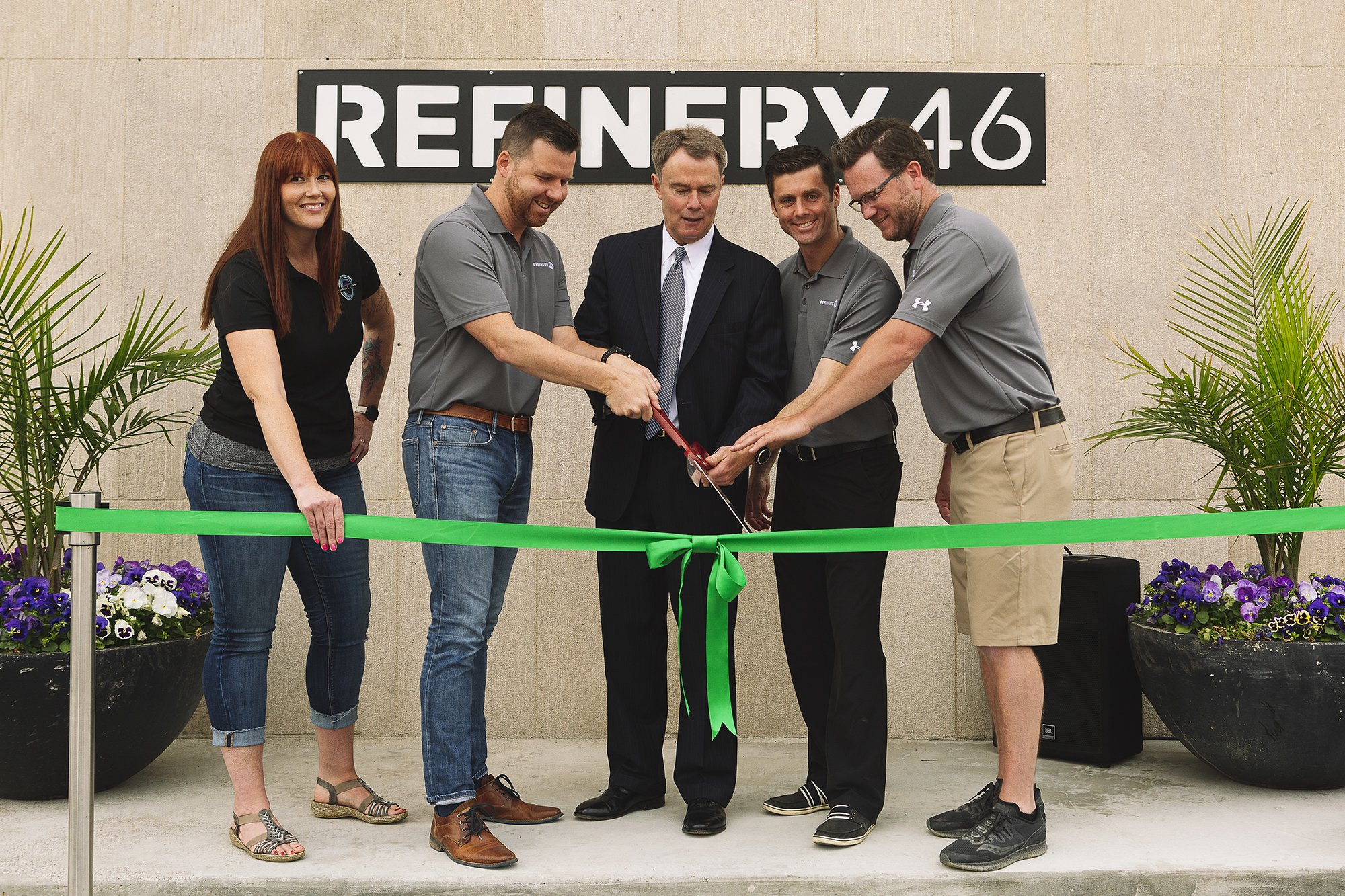 Refinery 46 Ribbon Cutting Ceremony With Indianapolis Mayor Joe Hogsett