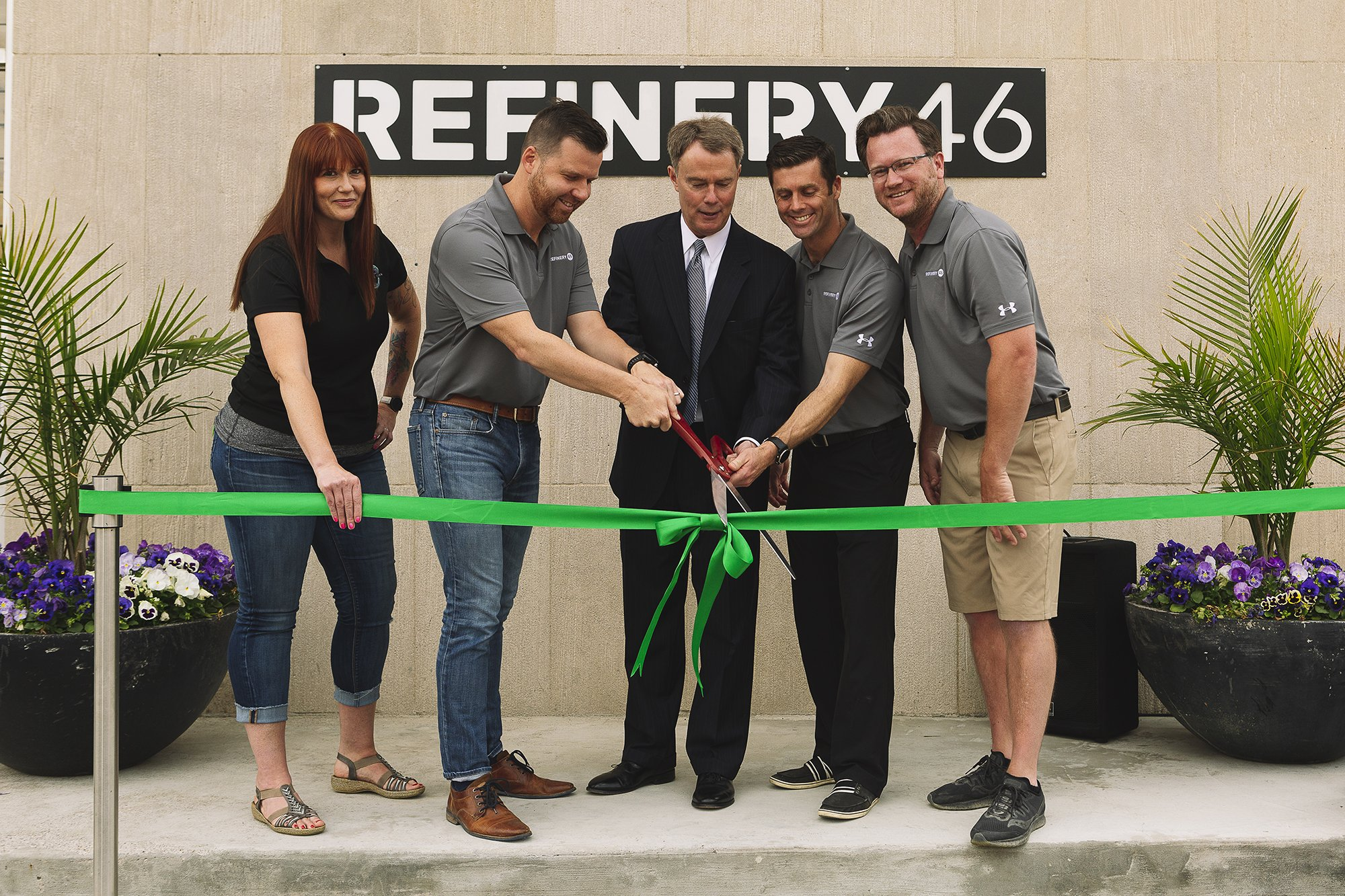 Corporate Event Photography - Refinery 46 Ribbon Cutting - Indianapolis Mayor Hogsett - 29