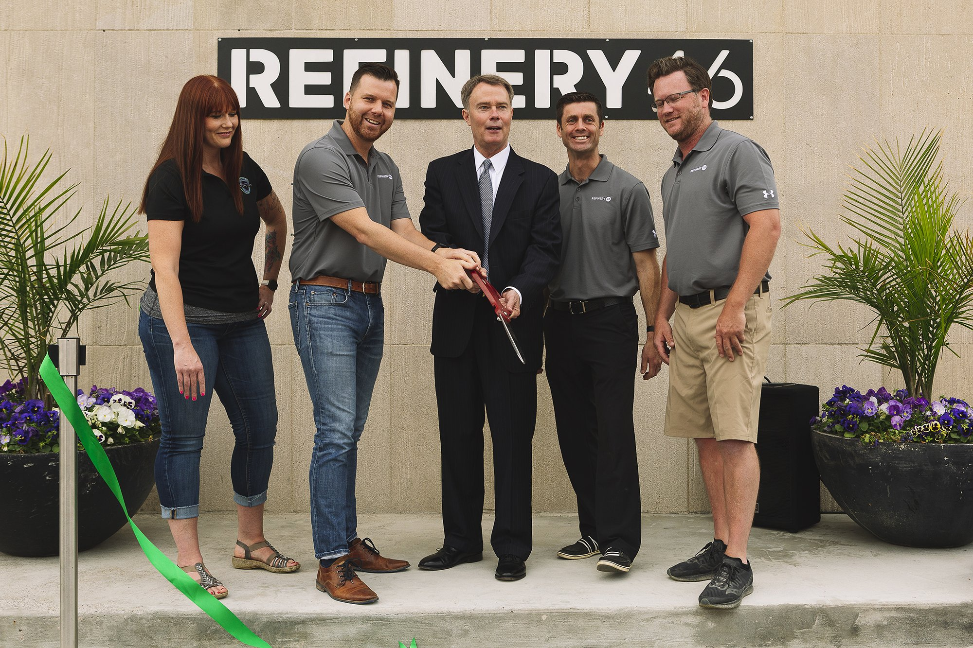 Corporate Event Photography - Refinery 46 Ribbon Cutting - Indianapolis Mayor Hogsett - 31