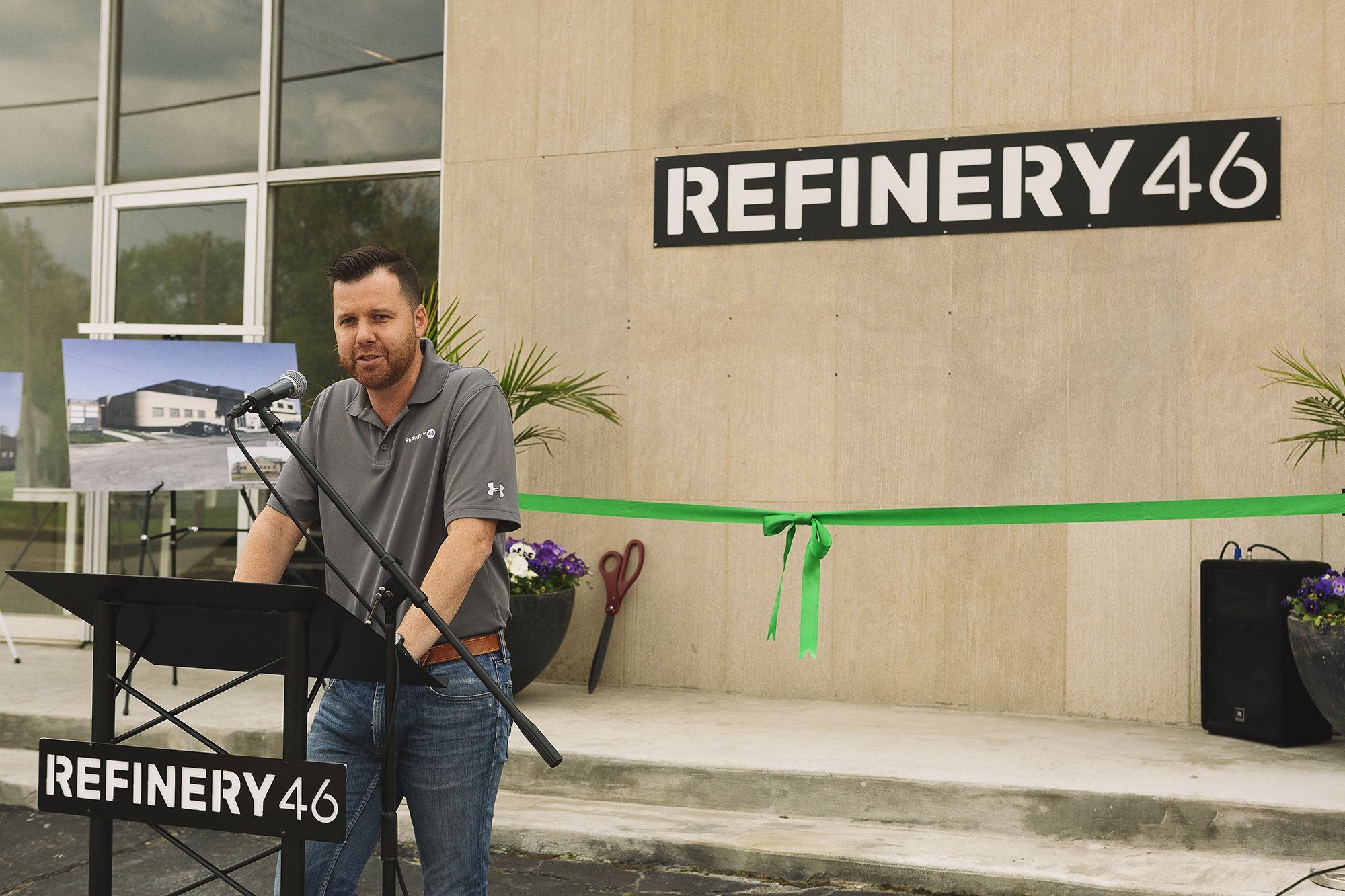 Corporate Event Photography - Refinery 46 Ribbon Cutting - Indianapolis Mayor Hogsett - 5