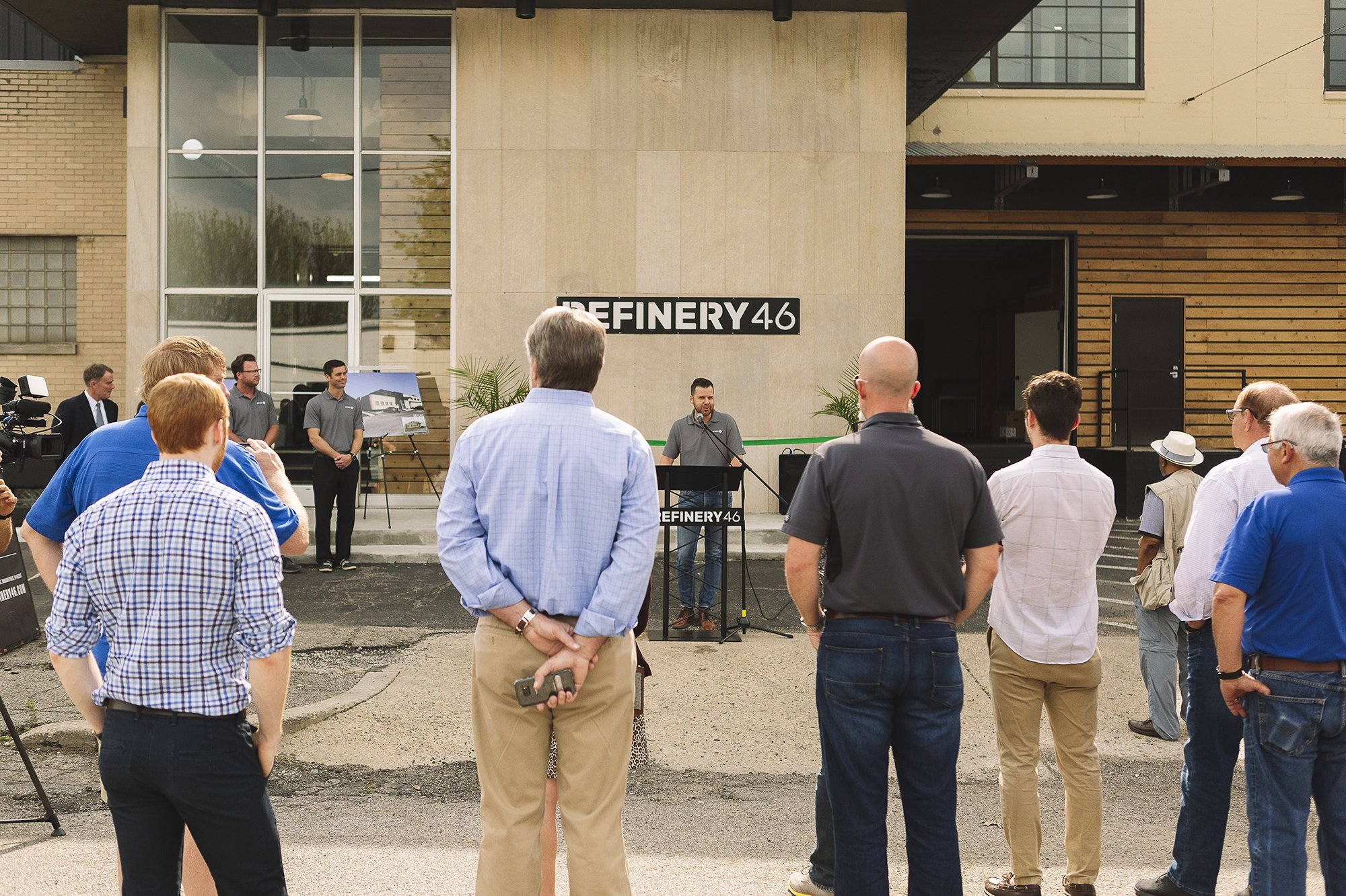 Corporate Event Photography - Refinery 46 Ribbon Cutting - Indianapolis Mayor Hogsett - 9