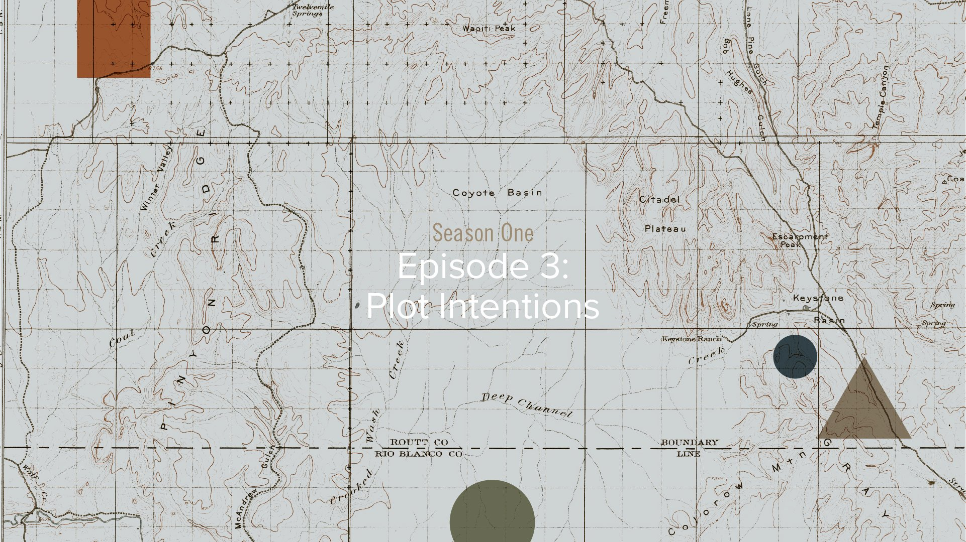 Metaphorically Speaking Podcast: Season 1 - Episode 3 - Plot Intentions